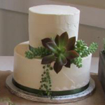 green-floral-cake