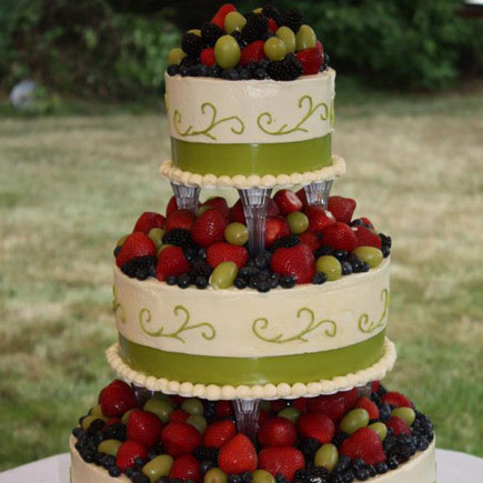 wedding cake with fruit topping epicure bakery wedding cake gallery epicure 26900
